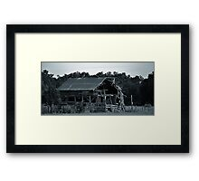 Only a Roof Framed Print