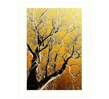 Gold Abstract Tree Art Print