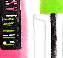 Mascara Watercolor | Trendy/Tumblr/Hipster Meme Sticker