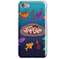 the curious submarine and surroundings iPhone Case/Skin