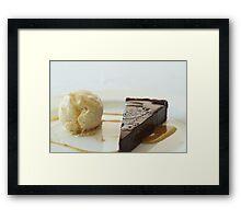 Chocolate tart Framed Print