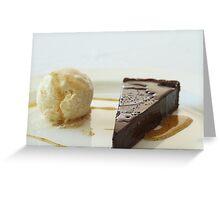 Chocolate tart Greeting Card