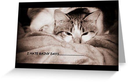 I hate rainy days (card) by Barbara Gerstner