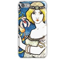 Art Nouveau and Celtic art inspired illustration  iPhone Case/Skin