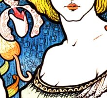 Art Nouveau and Celtic art inspired illustration  Sticker
