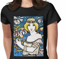 Art Nouveau and Celtic art inspired illustration  Womens Fitted T-Shirt