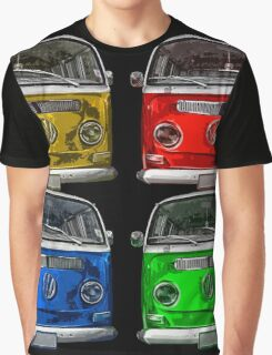 Multi colors Volkswagen kombi Graphic T-Shirt