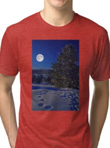 Moonlight night Tri-blend T-Shirt
