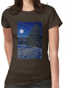 Moonlight night Womens Fitted T-Shirt