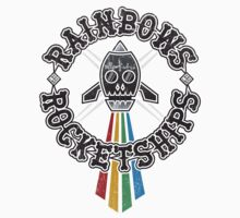 Rainbows Rocketships Kids Tee