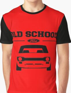 Ford Escort MK1 Men's Retro Car T-Shirt Graphic T-Shirt