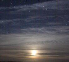 Moon rise over Lochmaddy II by RFK C
