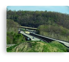 The Vastness of the Highway Canvas Print