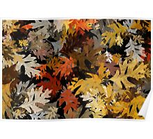 Oak Leaf Abstract Poster