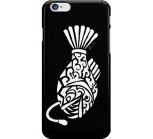 Angler Fish Tribal Design - White iPhone Case/Skin