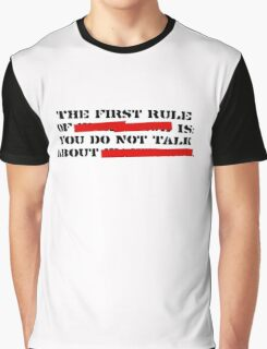 the first rule of fight club Graphic T-Shirt