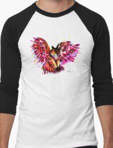 Flying Owl Men's Baseball ¾ T-Shirt