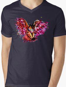 Flying Owl Mens V-Neck T-Shirt