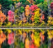 Colorful Fall Landscape Art Sticker