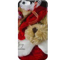 Christmas Red Teddy Bear iPhone Case/Skin