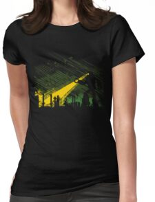 Robot Marching on the Factory Womens Fitted T-Shirt