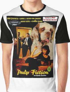 Clumber Spaniel Art - Pulp Fiction Movie Poster Graphic T-Shirt