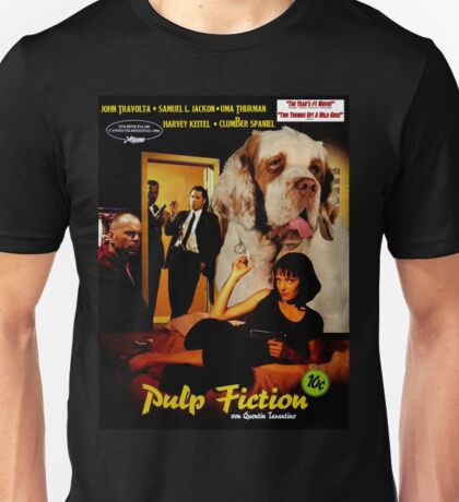 Clumber Spaniel Art - Pulp Fiction Movie Poster Unisex T-Shirt