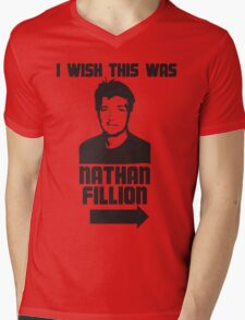 I Wish This Was Nathan Fillion Mens V-Neck T-Shirt