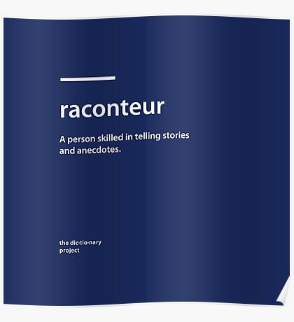 Dictionary Project - Raconteur Poster
