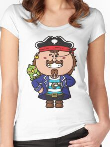 kawaii Pirate Women's Fitted Scoop T-Shirt