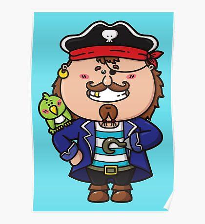 kawaii Pirate Poster