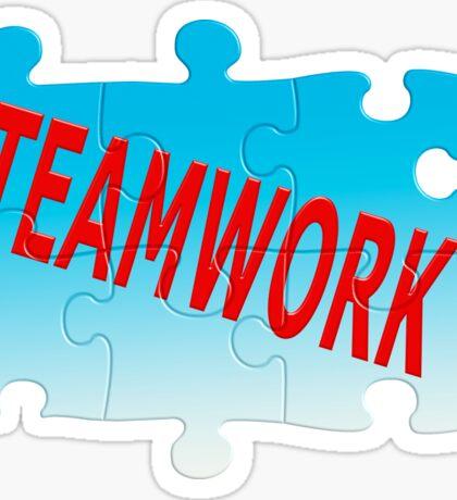 Teamwork Jigsaw Puzzle Sticker