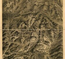 Panoramic Maps Cripple Creek mining district the great gold camp of Colorado by wetdryvac