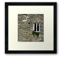 Stone Wall With Window Framed Print