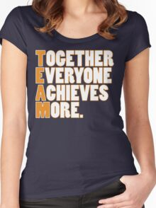 TEAM - Together Everyone Achieves More Women's Fitted Scoop T-Shirt