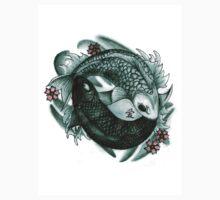Koi fish yin and yang Kids Clothes