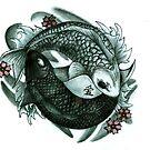 Koi fish yin and yang by Chloeosity