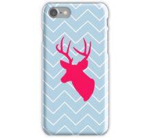Neon Pink Deer Silhouette  iPhone Case/Skin
