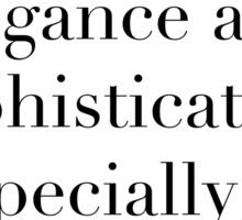 Definition of Chic (Serif) - Hipster/Trendy/Tumblr Typography Sticker