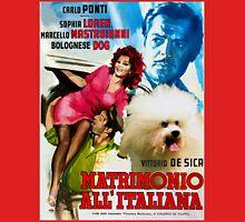 Bolognese Dog Art - Matrimonio All Italiana Movie Poster Unisex T-Shirt