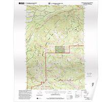 USGS Topo Map Washington State WA Darland Mountain 240773 2000 24000 Poster