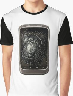 Broken Mobile Phone Graphic T-Shirt