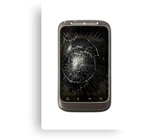 Broken Mobile Phone Canvas Print