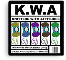 KWA - Knitters With Attitudes Canvas Print