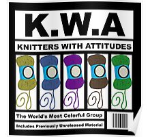 KWA - Knitters With Attitudes Poster