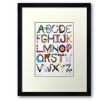 Children's Alphabet Framed Print