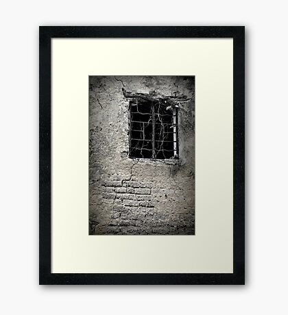 A Window into history. Framed Print