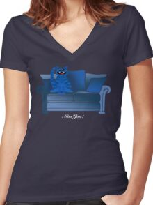MISS YOU! Women's Fitted V-Neck T-Shirt
