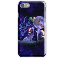 Funny Christmas Happy Howlidays Wolf Pun Humor iPhone Case/Skin