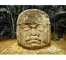 Olmec Colossal Head Photographic Print
